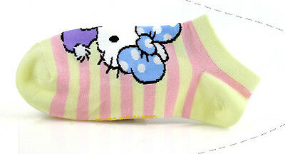 Girls Hello Kitty Cotton Trainer Liner Socks/fits age 9-11 year olds* Yellow