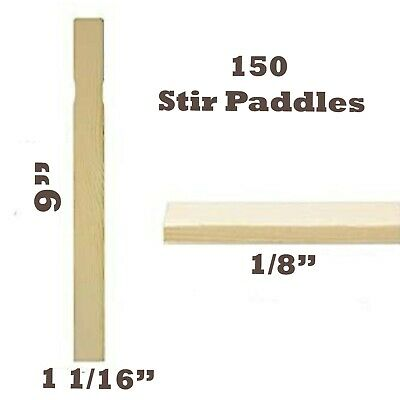 150 Piece Stir Sticks Paint Paddle for Mixing Paint/Epoxy/Resin Craft Multi Use