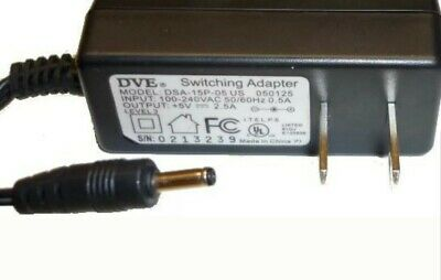 DVE AC Power Adapter Charger DSA-15P-05 US 050125 Switching 5V 2A 5-volt 2-amp