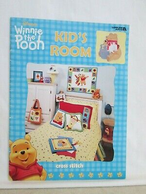 Leisure Arts Winnie The Pooh Cross Stitch Pattern Booklet - Kid's Room