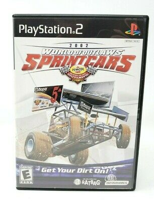 World of Outlaws: Sprint Cars 2002 Sony PlayStation 2 PS2 Game