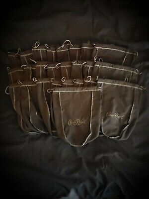 Lot of 25 Crown Royal Vanilla 1L Brown Bags great for face masks not 750ml 375ml