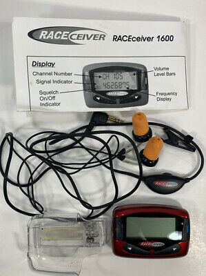 RACEceiver SW-1600 Auto Race Personal Radio Receiver W/ Matching Headphones