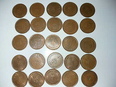 Bulk Lot 25x New Half Penny Coins 1971 to 1976