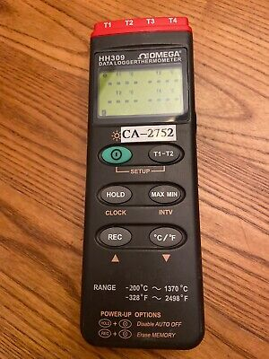 Omega HH309 Temperature Data Logger Thermometer Good Working!