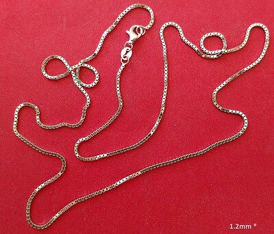 Box Chain -- Sterling Silver -- 1.2mm* -- 24 inch* -- Made in Italy