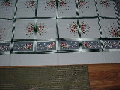 Vintage Tablecloth Floral Hugh