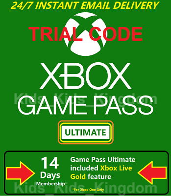 Xbox Game Pass Ultimate - 14 Day Tiral Code Xbox Live Gold + Game Pass Instant