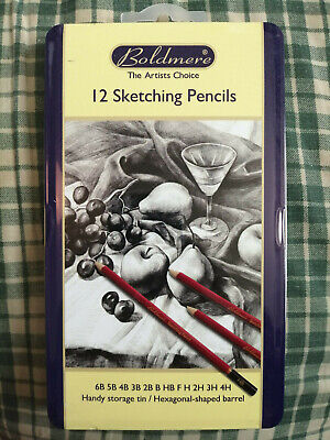 Boldmere 12 Sketching Pencils 6B-4H Brand New and Sealed