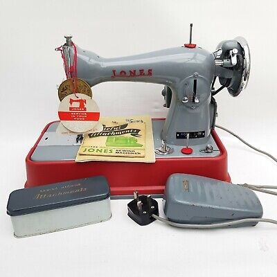 Jones Sewing Machine Model D-65 Foreign (UK Mains Plug) Tested/Working Vintage