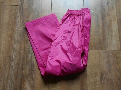 Girls age 9-10 Yrs Waterproof Trousers in Bright Pink