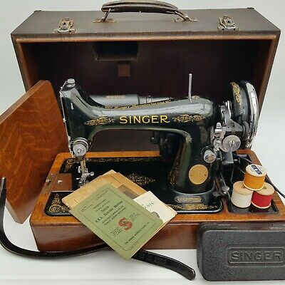 Vintage 1936 Singer Sewing Machine 99K Electric Knee Control (UK Mains Plug)