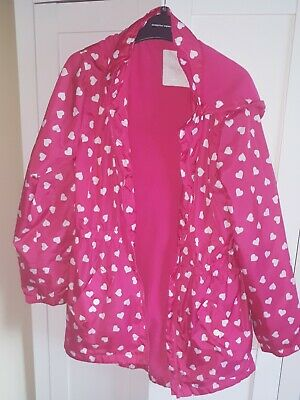 Girls Summer Lightweight pink spotted Coat Jacket 13Years VGC!