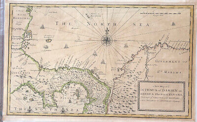 1721 Isthmus Of Darien Bay Of Panama Scots West India Colony Vallona St Michael