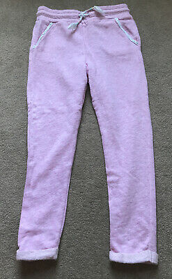 F&F Girls Pink Joggers Tracksuit Bottoms - Age 5-6 Years - VGC
