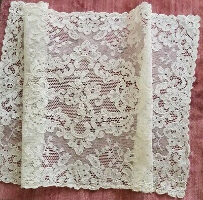 Antique VTG Alencon Lace Placemat Table Mat Dresser Scarf Rectangular Doily