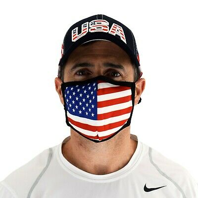 American Flag Face Mask Cloth Face Covering with Patriotic Stars and Stripes