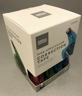 Brand New 16 Count Office Depot Side Application Correction Tape 1 Line 0.17 in.
