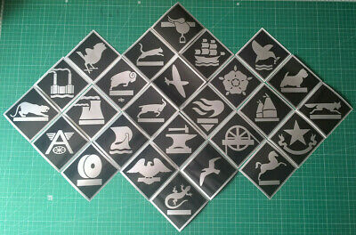 Large BR Depot Plaque Railway Stickers Glossy Black & Silver Tinsley Toton Etc