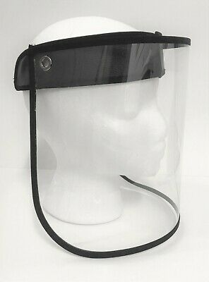 NEW Full Face Shield Mask Clear Anti Fog Droplet Sun Hat Cap Band Reusable