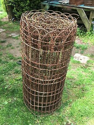 Vtg  Twisted Wire Garden Fence 35 fT Roll  3ft Tall Cottage  Farm Garden Design
