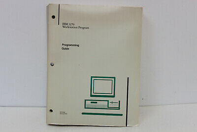 Ibm 3270 Workstation Program84X0390 Programming Guide