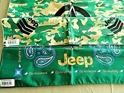 "Jeep~ Go Anywhere Do Anything ~ Bandannas  Set Of 2-21"" Square"