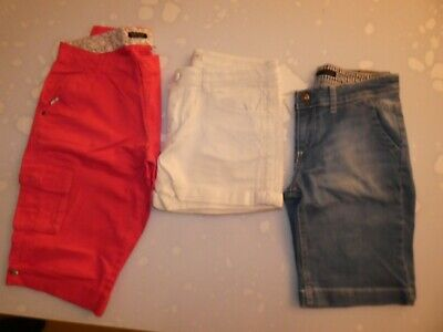 LOT de 3 vêtements FILLE Short Bermuda Taille 14 ans / S / 158 cm Junior