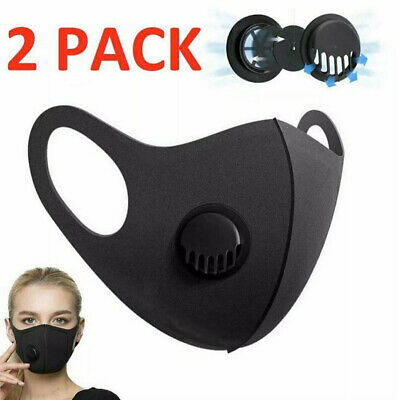 Face Mask UK Reusable Washable Breathable Dust Pollution Allergies Pack of 2