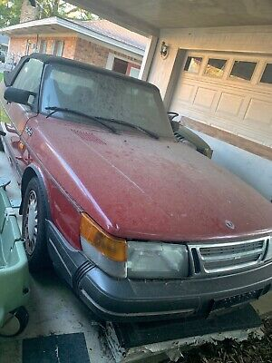 1988 Saab 900 Turbo Convertible Red Used - Fixer Upper or Parts - Trailer Haul