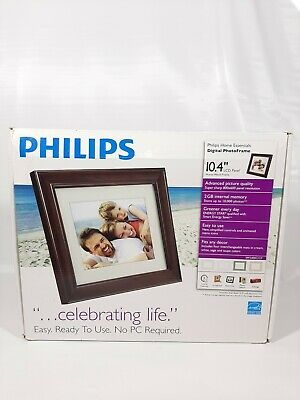 "Philips Digital Photoframe 10.4"" LCD Panel Mocha Wood Frame SPF3400C"