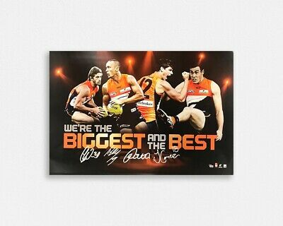 Greater Western Sydney Giants 'Biggest and the best' Signed Poster