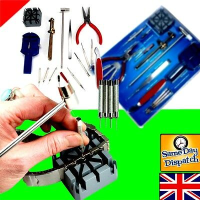 16 Pecs Watch Repair Tool Kit Band Strap Link Remover Back Opener Screwdriver UK