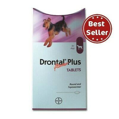 Bayer Plus for Dogs & Puppies (8,12,16,24,48 Tablets) dewormer USA Seller