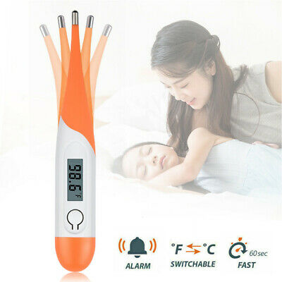 Digital LCD Thermometer Medical Baby Adult Body Safe Soft Electronic Thermometer
