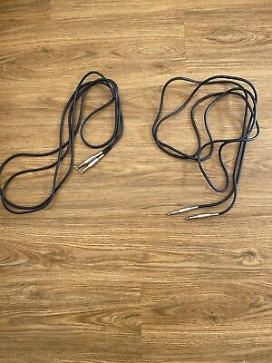 Guitar Amp Lead Cable X2 10ft Length