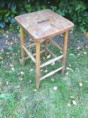 Vintage Lab Stool School Stool From Art School Beech Stool