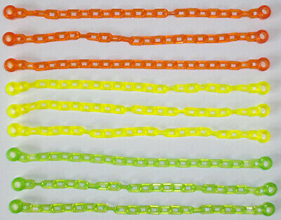 Lego 10 x Chain 21 Links or 16 Lego Studs Long Trans Bright Green
