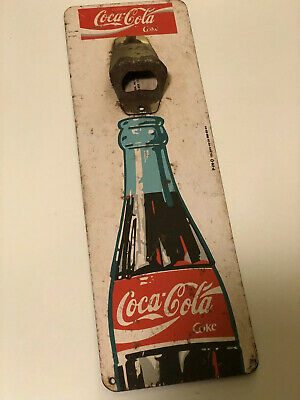rare vintage mexican coca cola bottle opener wall mount