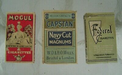 3 Vintage Collectable Cigarette Packages For Display - Lot A