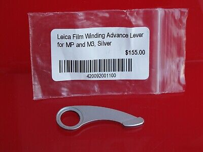 "Leica film winding advance lever for MP and M3, Silver listed at $155 ""LQQK"""