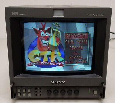 "Sony HR Trinitron Color Video CRT Monitor BVM-8044QD 8"" Tested Works Gaming"