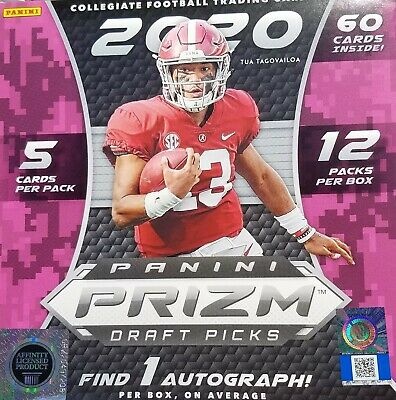 2020 Panini Prizm Collegiate Draft Picks Football Walmart Mega Box!!!