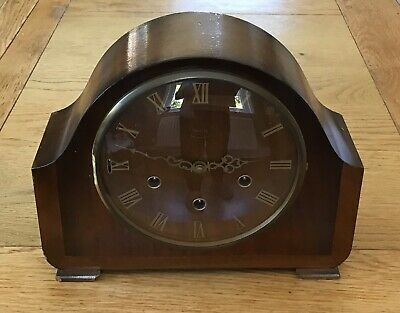 Smiths Westminster Chime Wooden Mantle Clock - Working