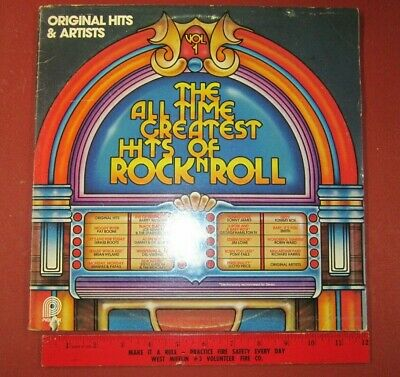 """Vinyl LP 33RPM  """"The All Time Greatest Hits of Rock and Roll"""""""