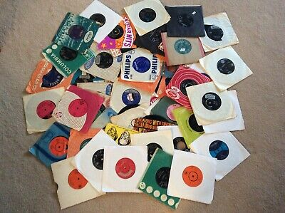 Job lot records 54 x 1950s 1960s singles in very good to excellent condition (D)