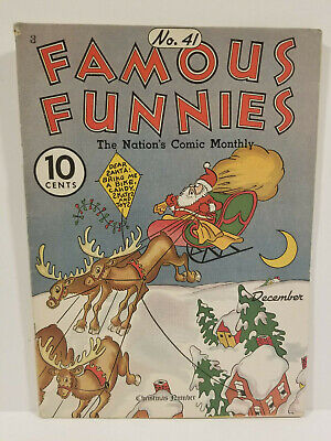 Famous Funnies # 41, Platinum Age Christmas Cover! Buck Rogers! (1937)