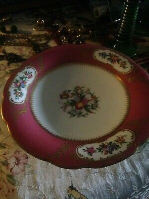 Antique Austrian Hand Painted Footed Plate