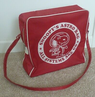 Vintage Snoopy Astronaut Travel Bag with Shoulder Strap