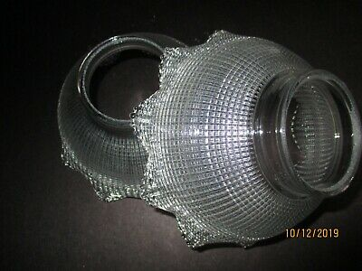 """Beautiful Pair of Antique Holophane Glass Shades 2 5/8"""" Fitter, 2 3/4"""" High"""
